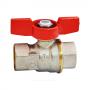 Кран шаровой латунь никель R911 Ду 32 Ру35 ВР полнопроходной бабочка Giacomini R911X026
