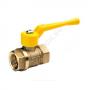 Кран шаровой латунь газ 11б27п А10 Ду 32 Ру16 ВР полнопроходной рычаг БАЗ А500мм