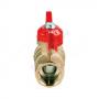 Кран шаровой латунь Стандарт 231  11б27п1 Ду 20 Ру16 ВР/НР полнопроходной бабочка ГАЛЛОП 103188
