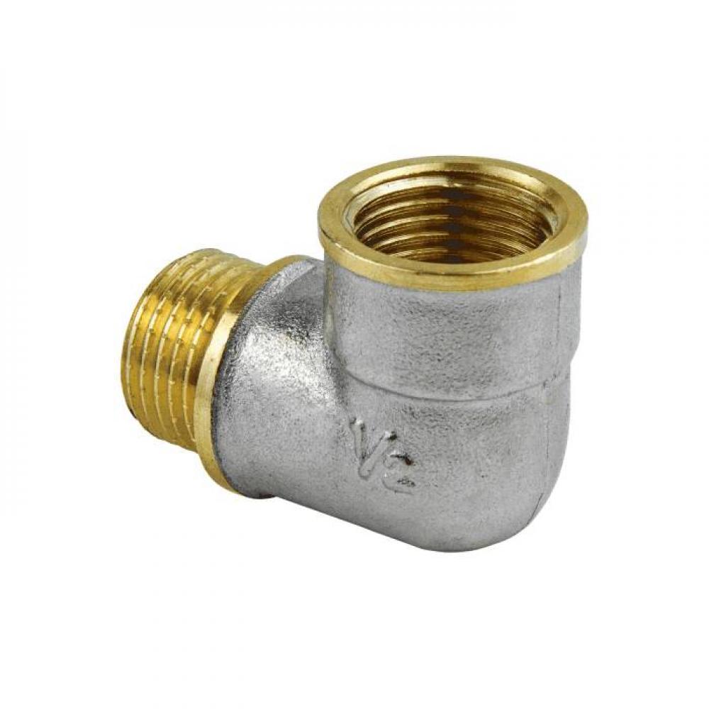 Угольник лат реборд Ду15 м/р никель Aquasfera 9006-01