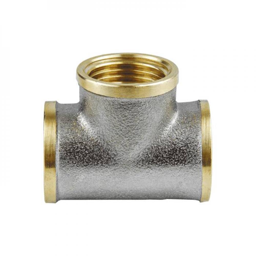 Тройник лат Ду20 м/м никель Aquasfera 9007-02
