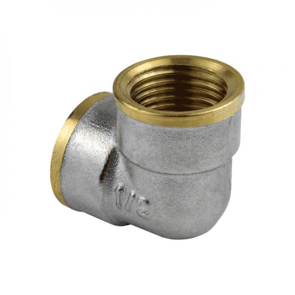 Угольник лат Ду40 м/м никель Aquasfera 9001-05