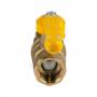 Кран шаровой латунь газ Стандарт 220  11б27п Ду 20 Ру16 ВР полнопроходной рычаг ГАЛЛОП 116024