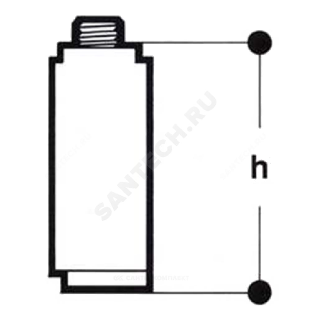 Удлинитель штока для крана Ду 100 Giacomini R749TX005