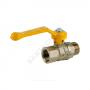 Кран шаровой латунь газ Стандарт 221  11б27п Ду 15 Ру16 ВР/НР полнопроходной рычаг ГАЛЛОП 116010