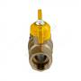 Кран шаровой латунь газ Стандарт 230  11б27п Ду 15 Ру16 ВР полнопроходной бабочка ГАЛЛОП 116012