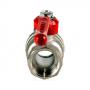 Кран шаровой латунь никель Стандарт 220  11б27п1 Ду 25 Ру16 ВР полнопроходной рычаг ГАЛЛОП 103155
