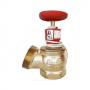 Клапан пожарный латунный  угловой 125 гр КПЛ 65-1 Ду 65 1,6 МПа муфта-цапка с датчиком положения ДППК 23 Апогей 110006