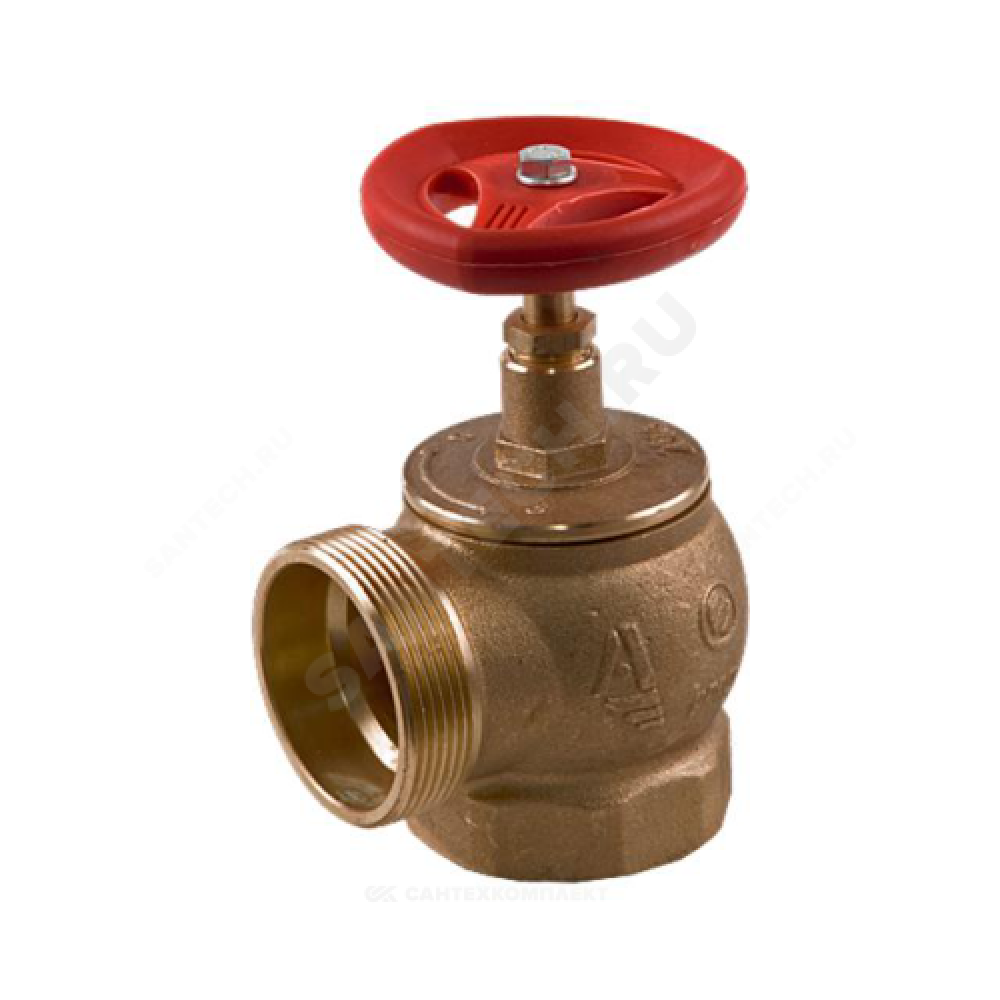 Клапан пожарный латунный  угловой 90 гр КПЛМ 65-1 Ду 65 1,6 МПа муфта-цапка с датчиком положения ДППК 23 Апогей 110014