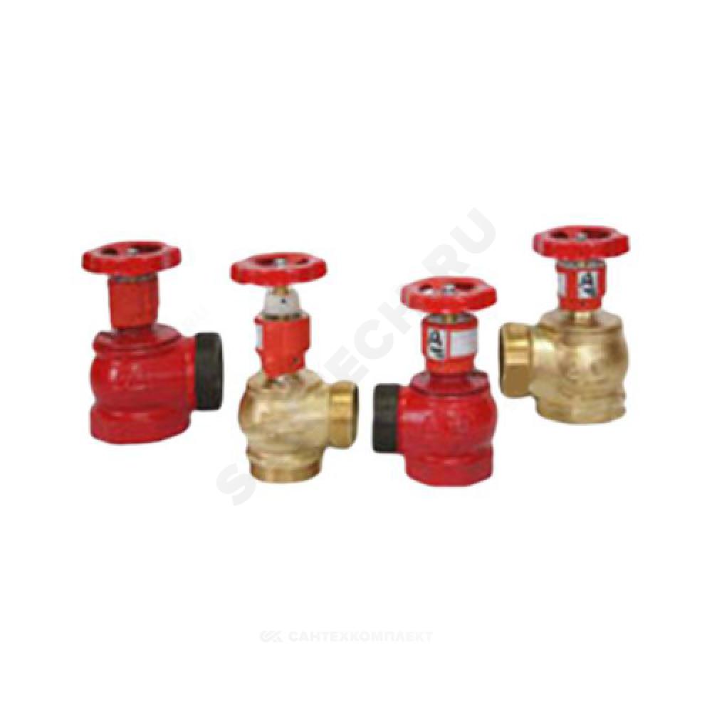 Клапан пожарный чугунный угловой 125 гр КПЧ 50-1 Ду 50 1,6 МПа муфта-цапка с датчиком положения ДППК 24 Апогей 110022