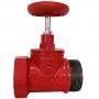 Клапан пожарный чугунный прямой КПЧП 65-1 Ду 65 1,6 МПа муфта-цапка с датчиком положения ДППК 24 Апогей 110036