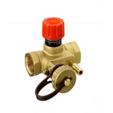 Клапан балансировочный ручной латунь MNT Ду 15 Ру16 ВР Kvs=1.6м3/ч с изм/нип Danfoss 003Z2331