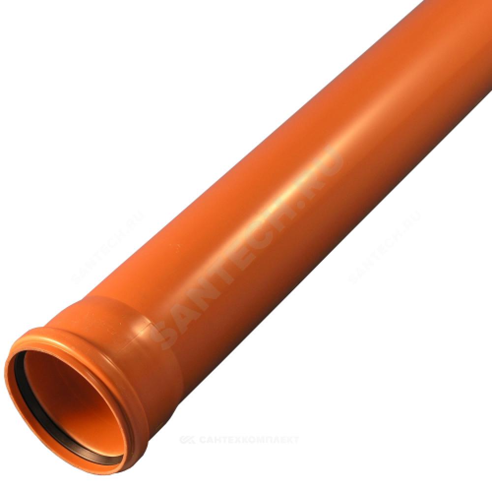 Труба НПВХ с раструбом коричневая Дн 400х9,8х6,15м SN4