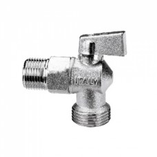 Кран шаровой угловой ITAP 392 - 1/2' x 3/4' (НР/НР, PN16, ручка-флажок, для стиральных машин) 26137
