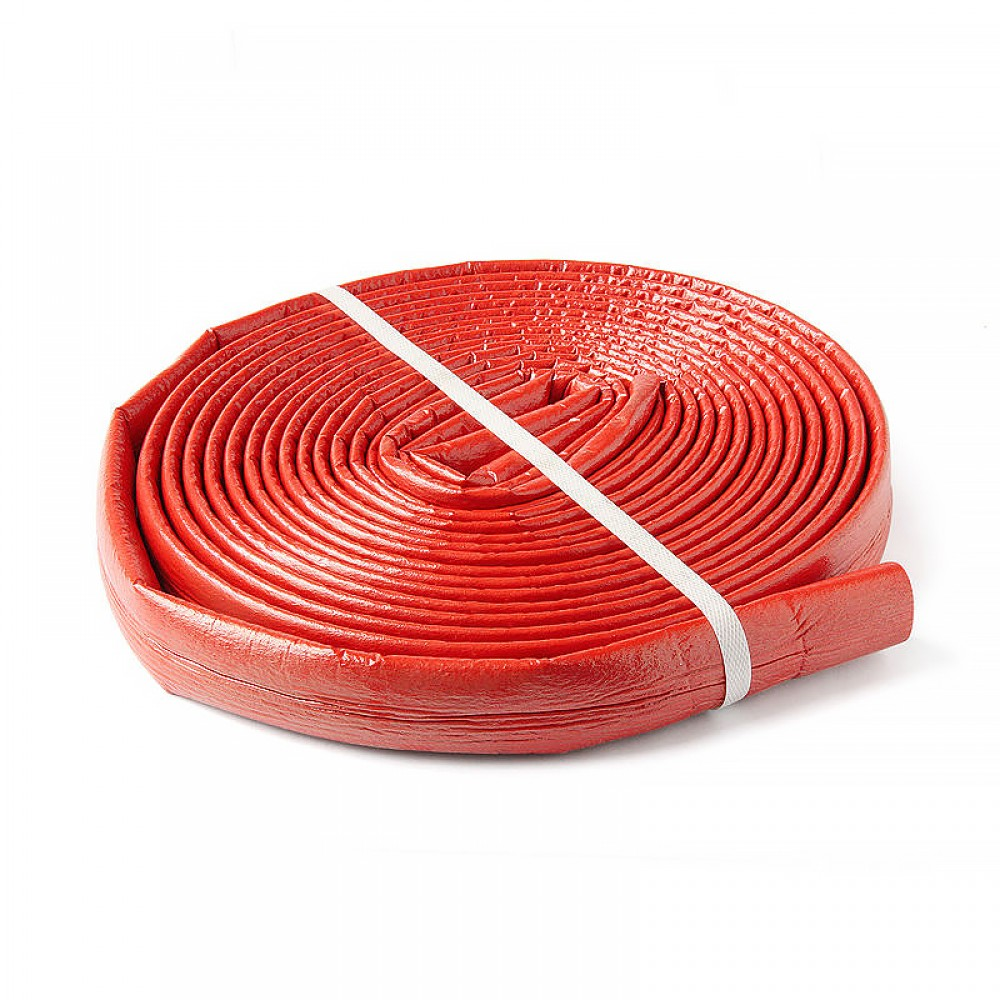 Трубка вспененный полиэтилен SUPER PROTECT 18/4 бухта L=11м Тмакс=95°C в защитной оболочке красный Energoflex EFXT0180411SUPRK
