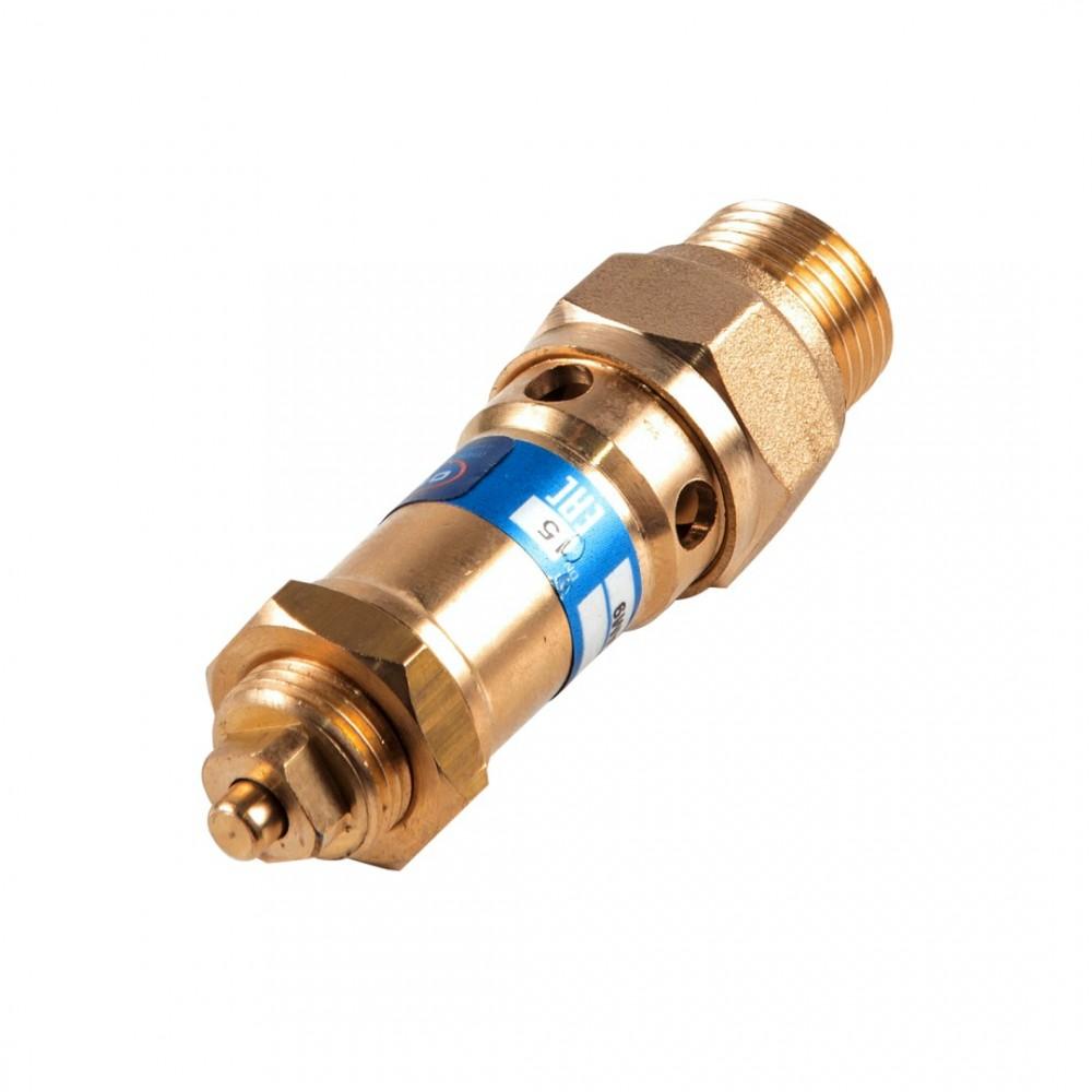 """Клапан предохранительный пружинный прямой латунь 1810 Ду25 НР G1"""" Рн=0.5...16бар для газообразных сред 220С OR 1810.025"""