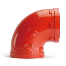 Отвод (колено) под муфту 90гр грувлок XGQT01 Ду25 (Дн34) LEDE