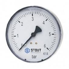 Манометр Stout SIM-0009-630608 аксиальный, 63 мм