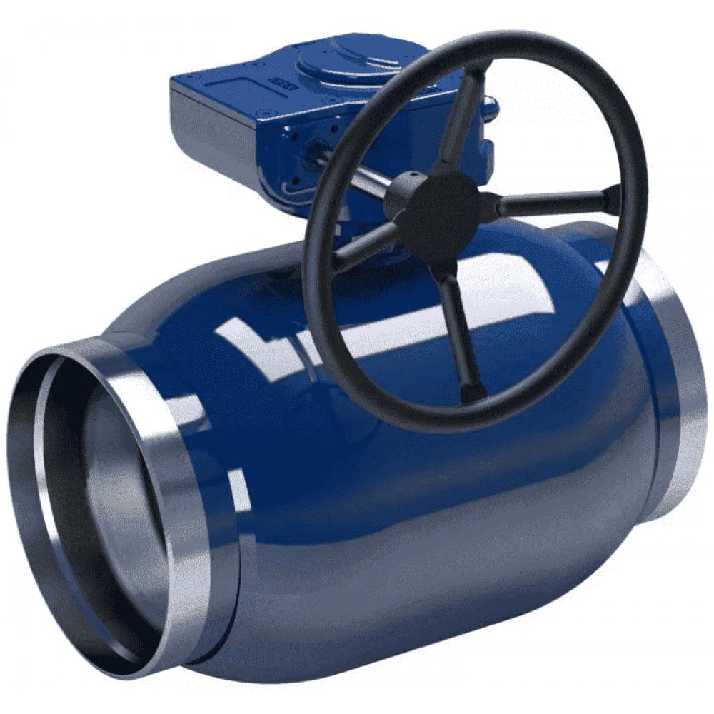 Кран стальной полнопроходной NAVAL сварка-сварка DN125 PN25 с редуктором