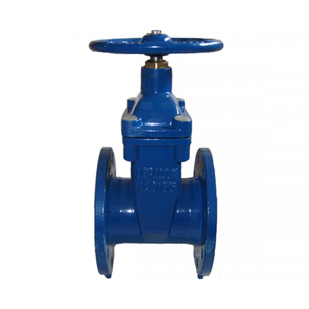 Задвижка с обрезиненным клином DN150 ABRA A40-16-150 L=210 мм