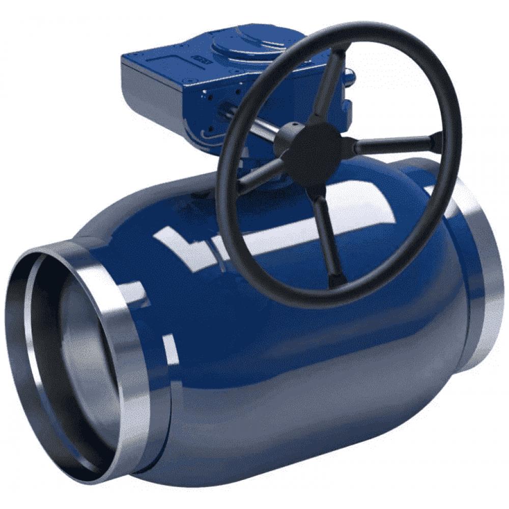 Кран стальной полнопроходной NAVAL сварка-сварка DN300 PN25 с редуктором