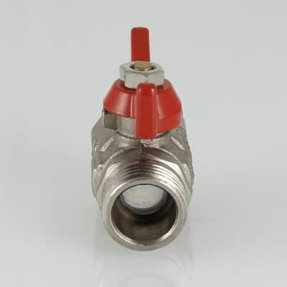 Кран шаровой облегченный VALTEC COMPACT В-Н, бабочка 1/2'