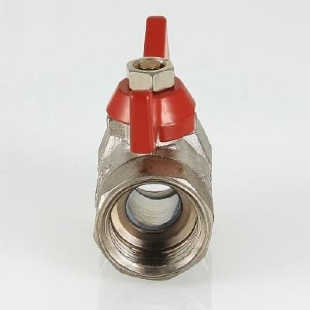 Кран шаровой облегченный VALTEC COMPACT В-В, бабочка 3/4'