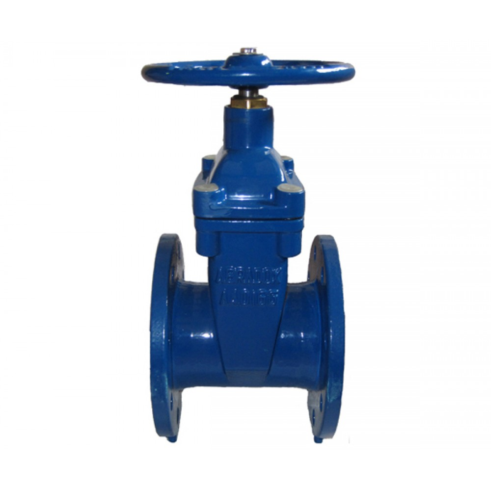Задвижка с обрезиненным клином DN125 ABRA A40-16-125 L=200 мм