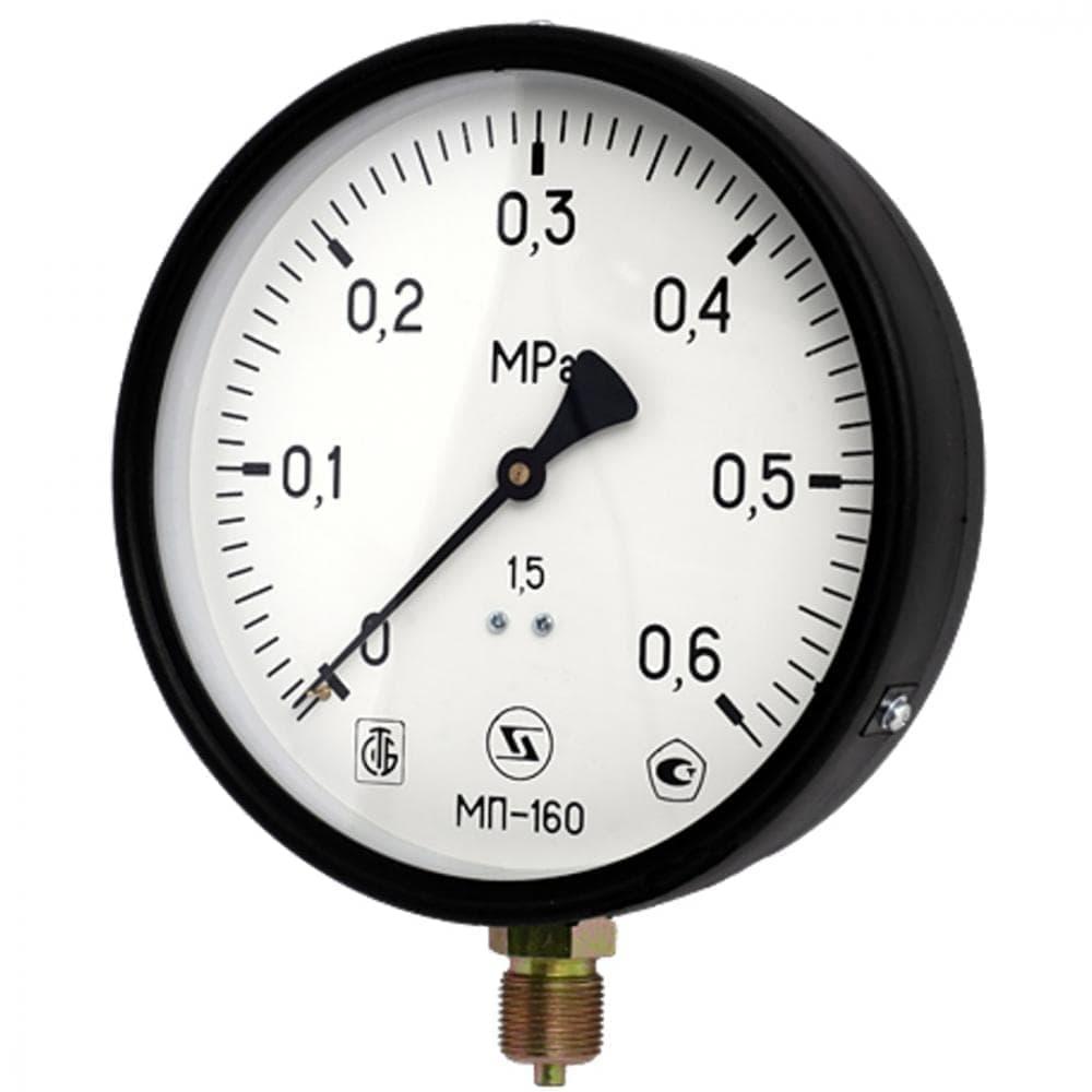 Манометр МП-160 радиальный Дк160мм 0,6МПа G1/2'