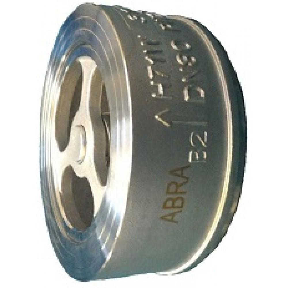 Обратный клапан нержавеющий межфланцевый ABRA-D71-032 DN32 PN25