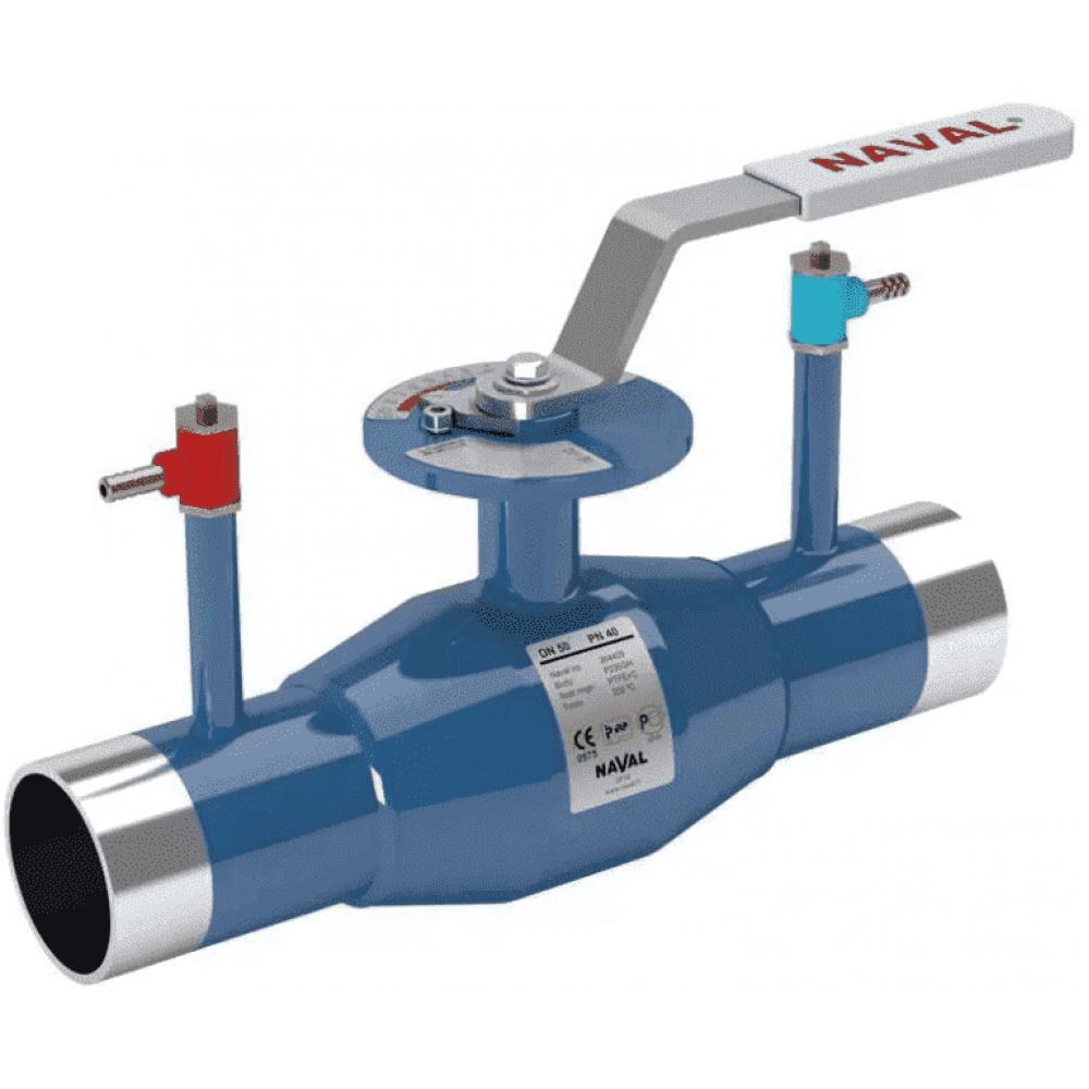 Кран стальной регулирующий NAVAL сварка-сварка DN40 PN40