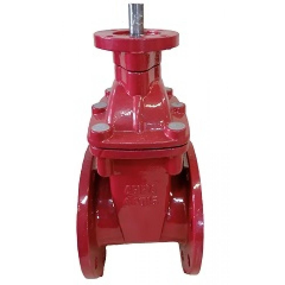 Задвижка с обрезиненным клином под электропривод ABRA DN100 A40-16-BS100 / ISO 5210 КРАСНАЯ