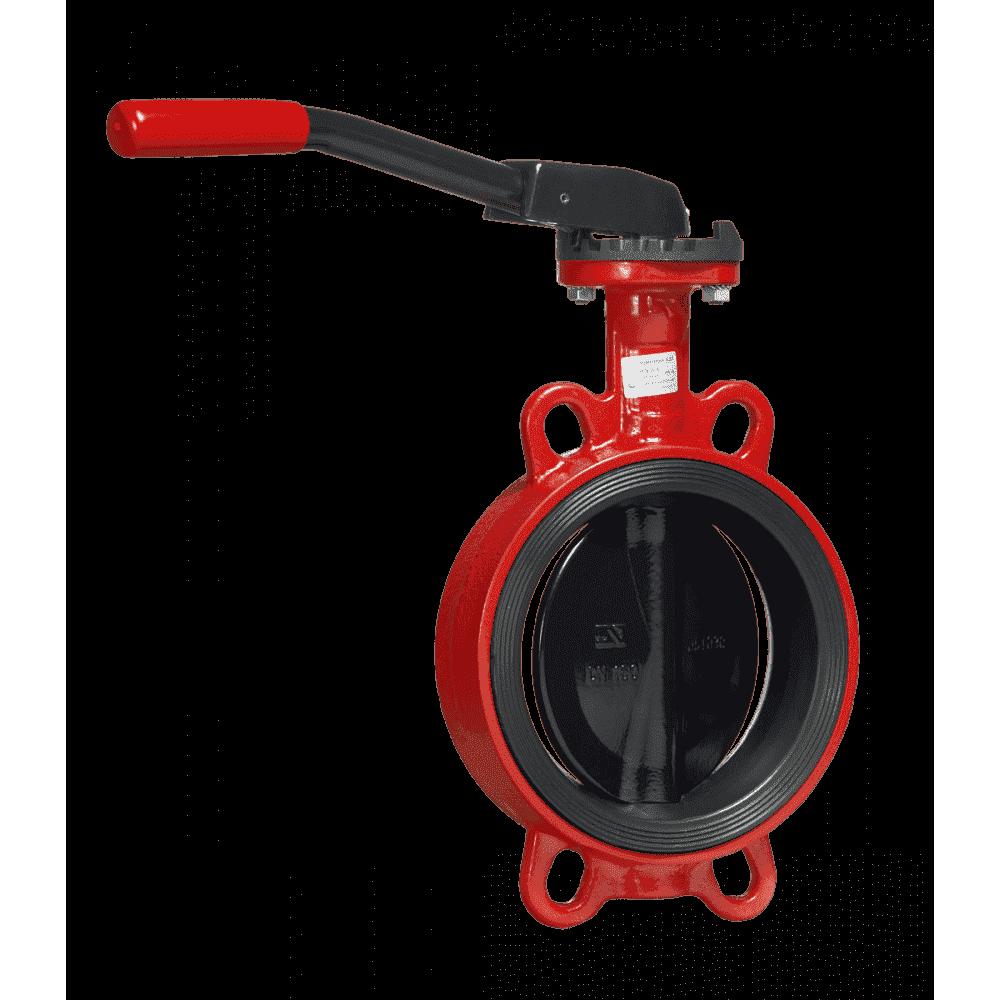 Дисковые поворотные затворы «Гранвэл» ЗПНС-FL(W)-3-125-MN-N ДУ125 РУ16