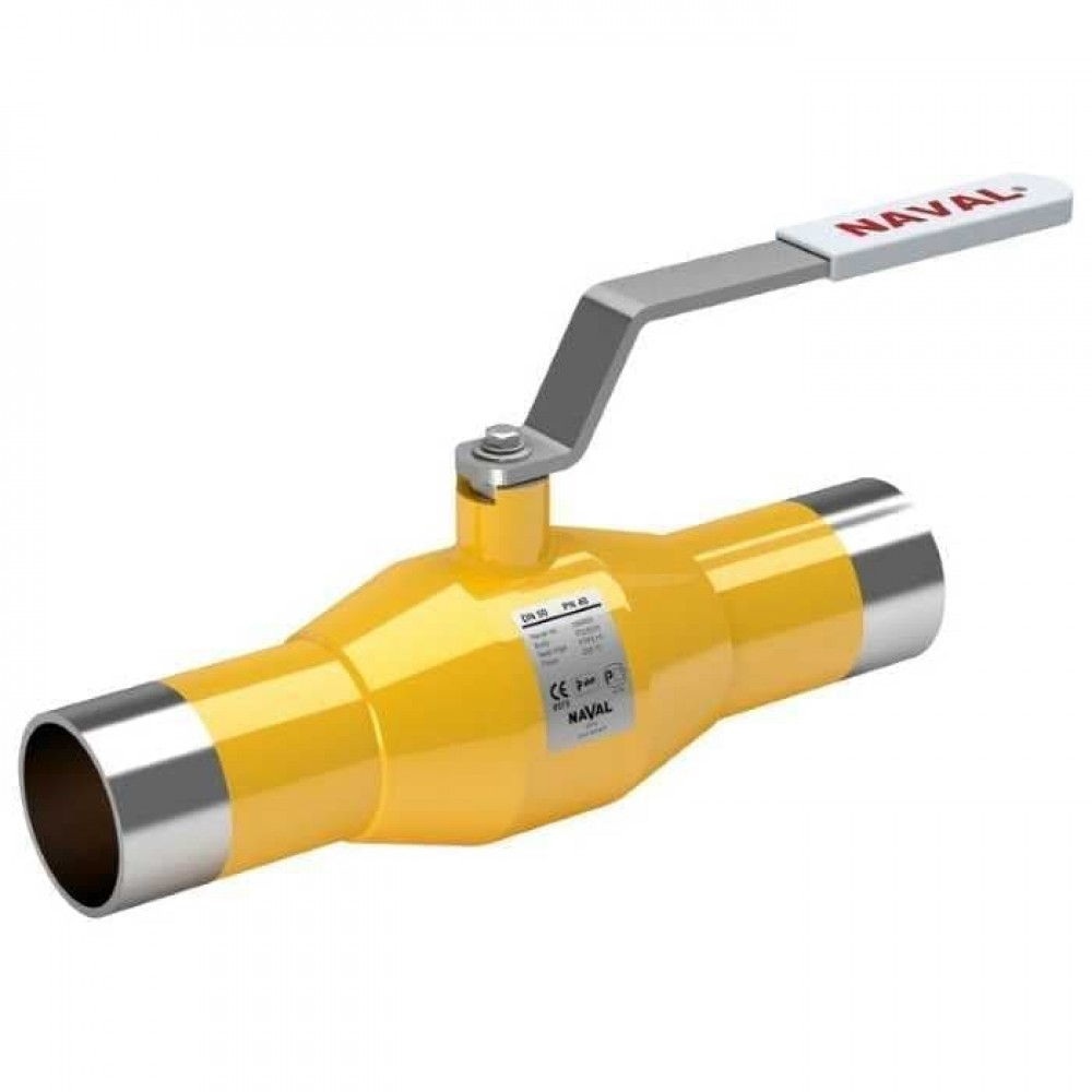 Кран стальной газовый NAVAL сварка-сварка DN100 PN25