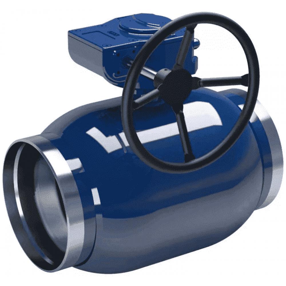 Кран стальной регулирующий NAVAL сварка-сварка DN250 PN25 с редуктором