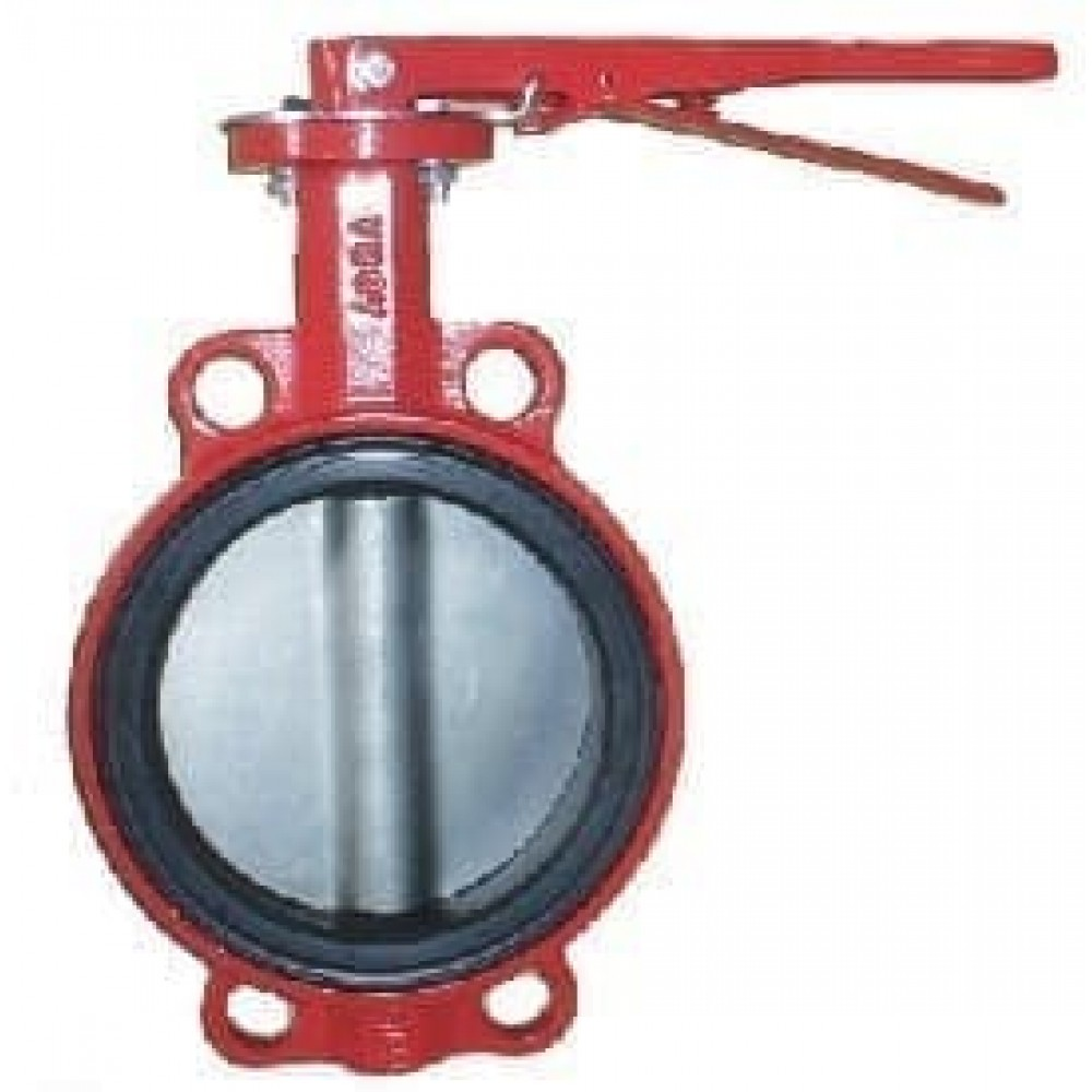 Затвор ABRA-BUV-VF866D150H Ру16 с рукояткой DN150 диск н/ж