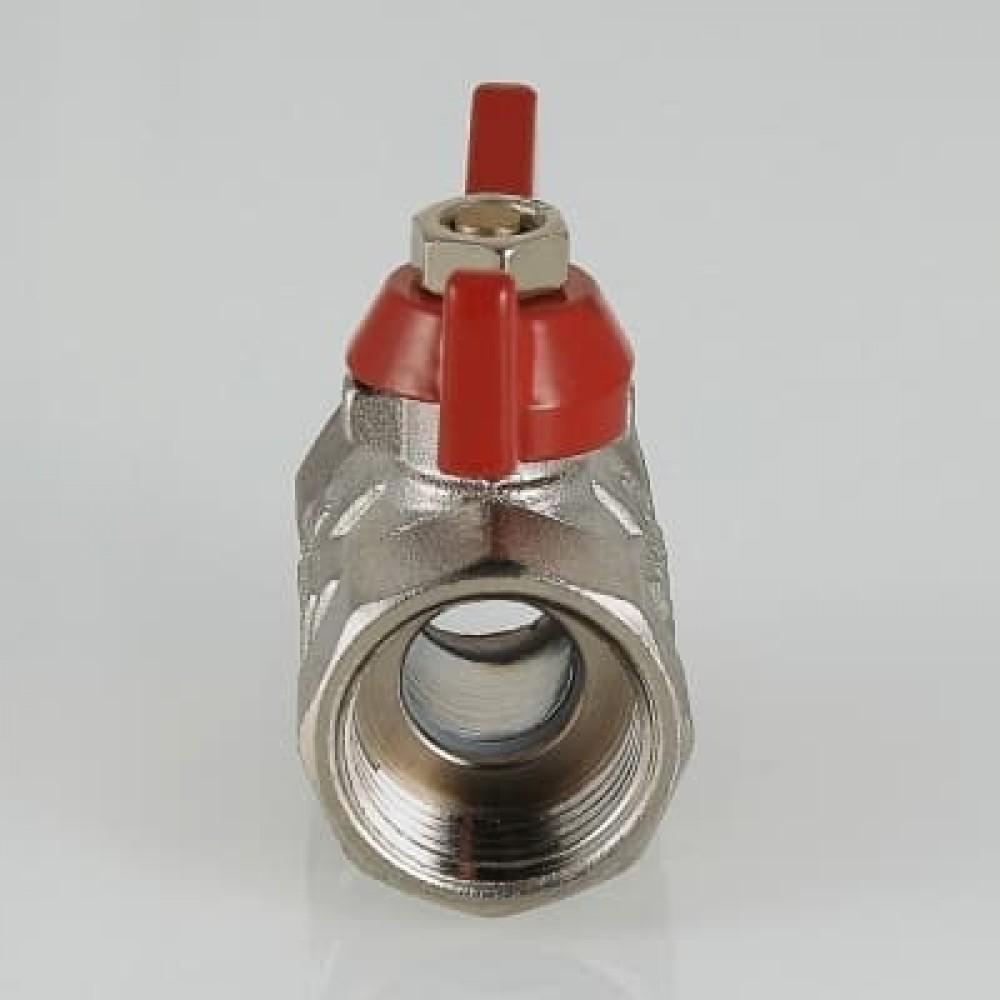 Кран шаровой облегченный VALTEC COMPACT В-В, бабочка 1/2'