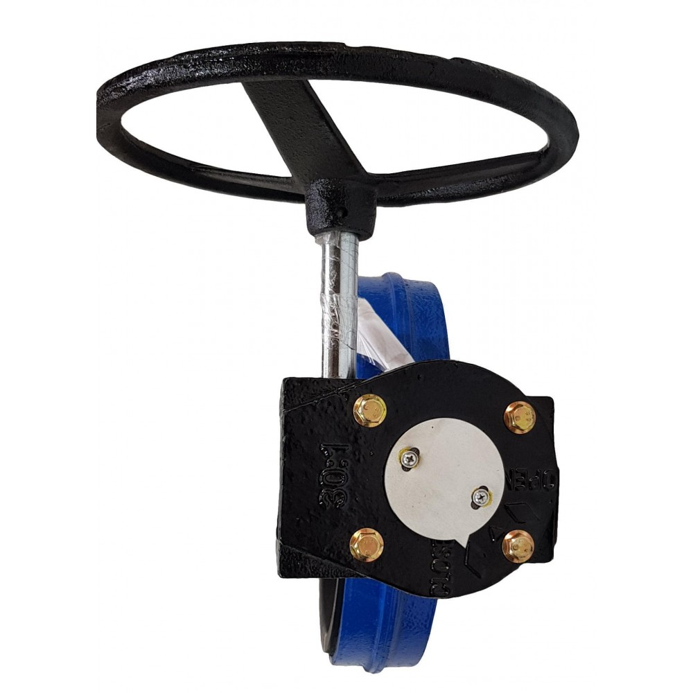 Затвор дисковый поворотный Ду250 с редуктором (тип 32ч501р) СИБЗТА