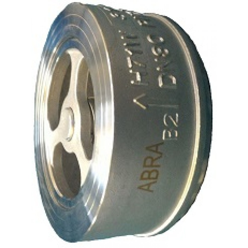 Обратный клапан нержавеющий межфланцевый ABRA-D71-080 DN80 PN25