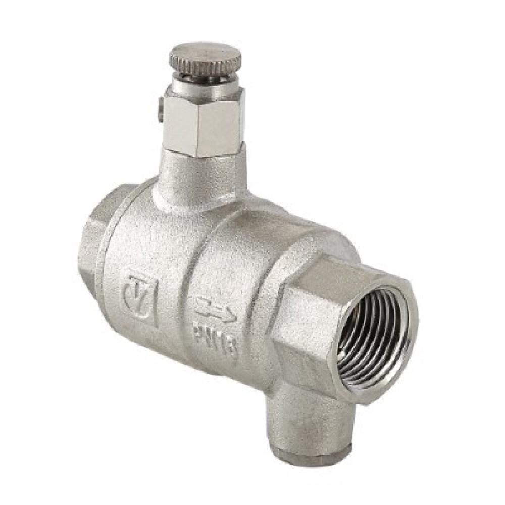 Обратный клапан с дренажем и воздухоотводчиком VALTEC 1 1/4'