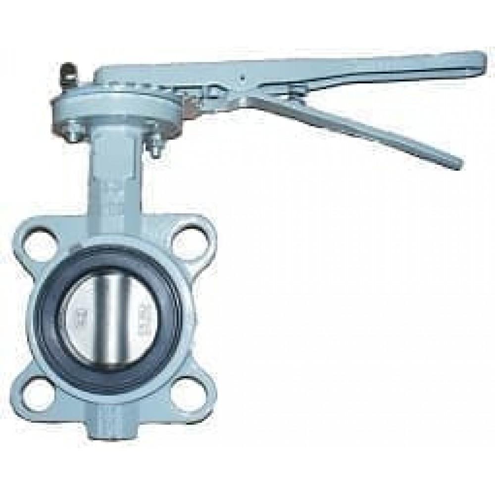 Затвор BUV-VF863D300H Ру16 с рукояткой NBR DN300 ABRA диск н/ж