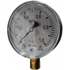 Манометр технический МТ-100 G 1/2 2,5 Мпа