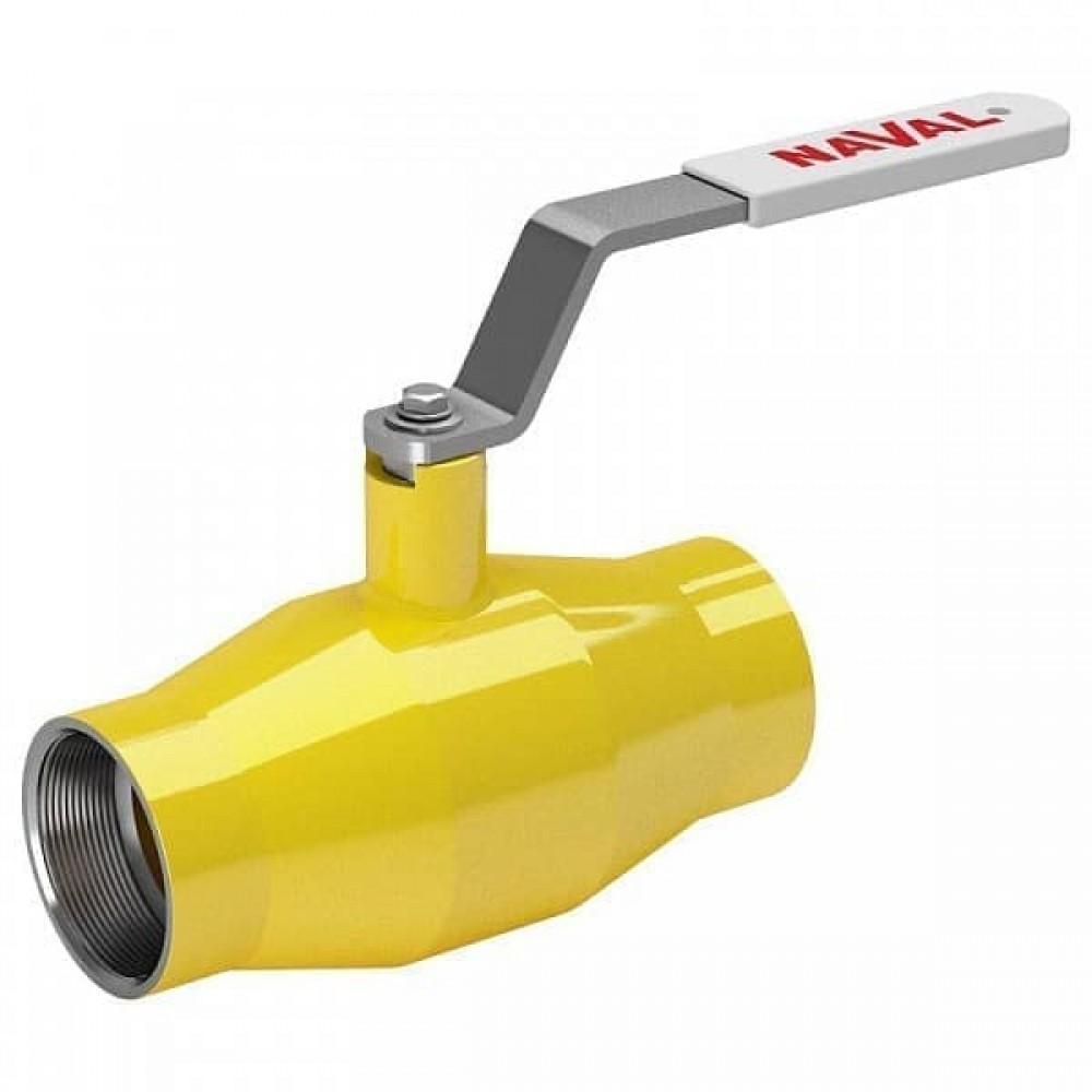 Кран стальной газовый NAVAL муфта-муфта DN32 PN40