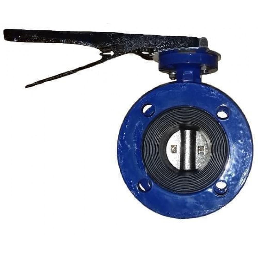Затвор дисковый ABRA-BUV-FL226D150H Ру10/16 с рукояткой фланцевый DN150 ABRA