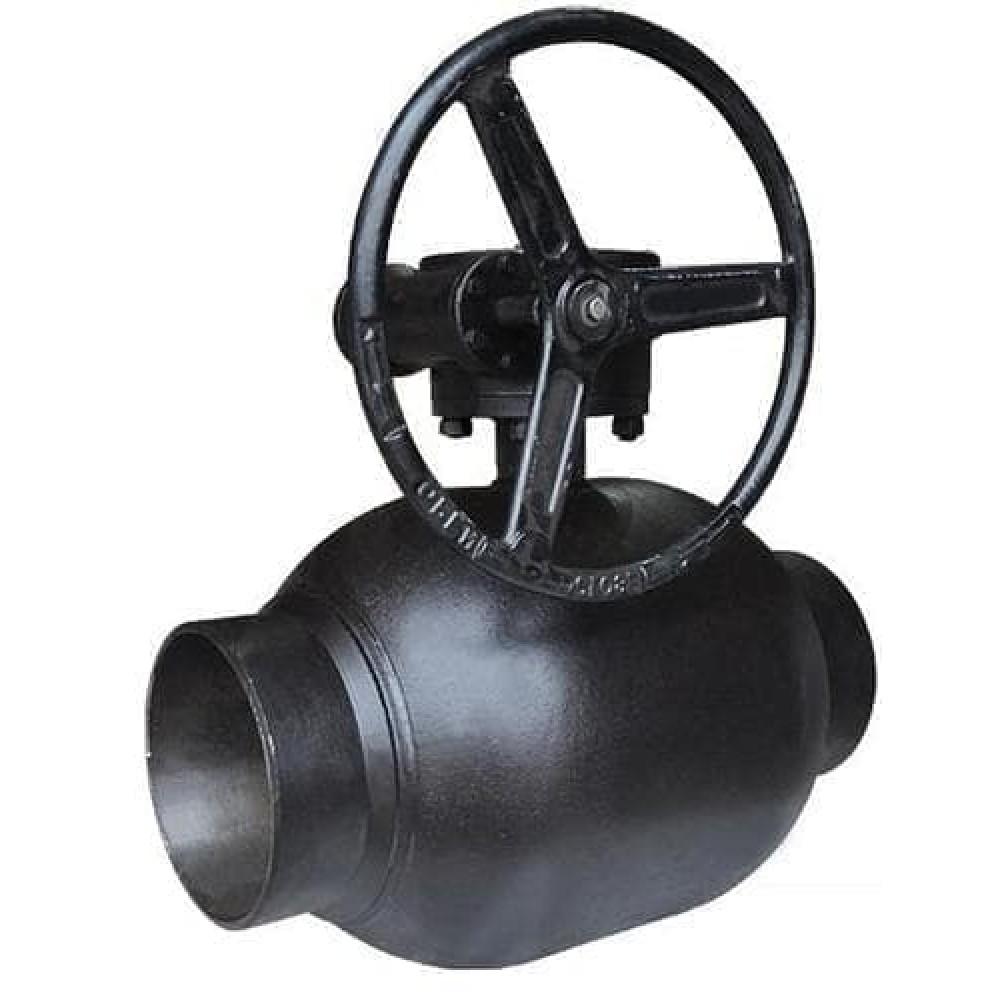 Кран BREEZE сварка-сварка 11с337п Ру25 Ду100 полный проход с редуктором