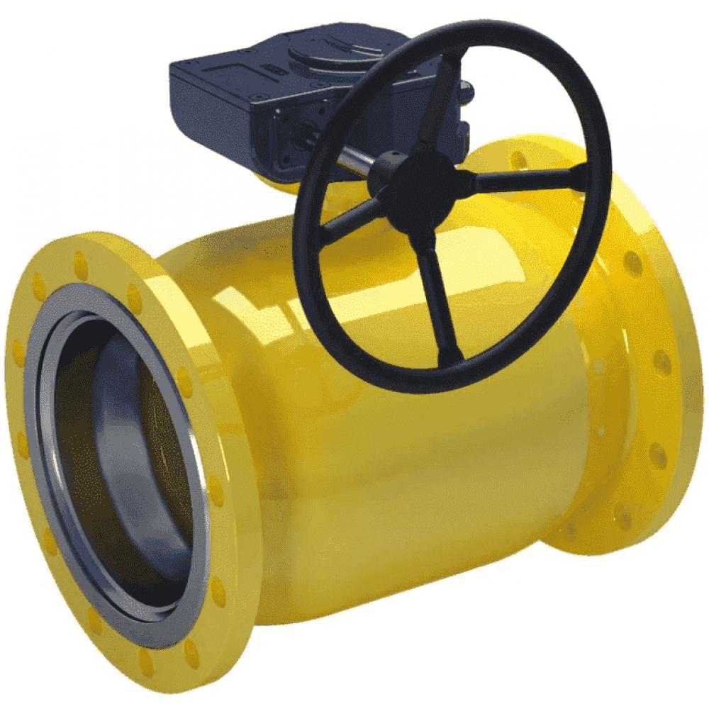 Кран стальной газовый NAVAL фланец-фланец DN125 PN16 с редуктором