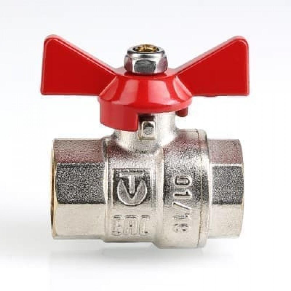 Кран шаровой VALTEC BASE В-В, бабочка 1'