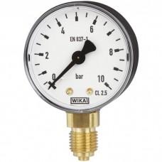 Манометр 111.10.63 радиальный Дк63мм 10 кгс/см2 М12х1,5 Wika