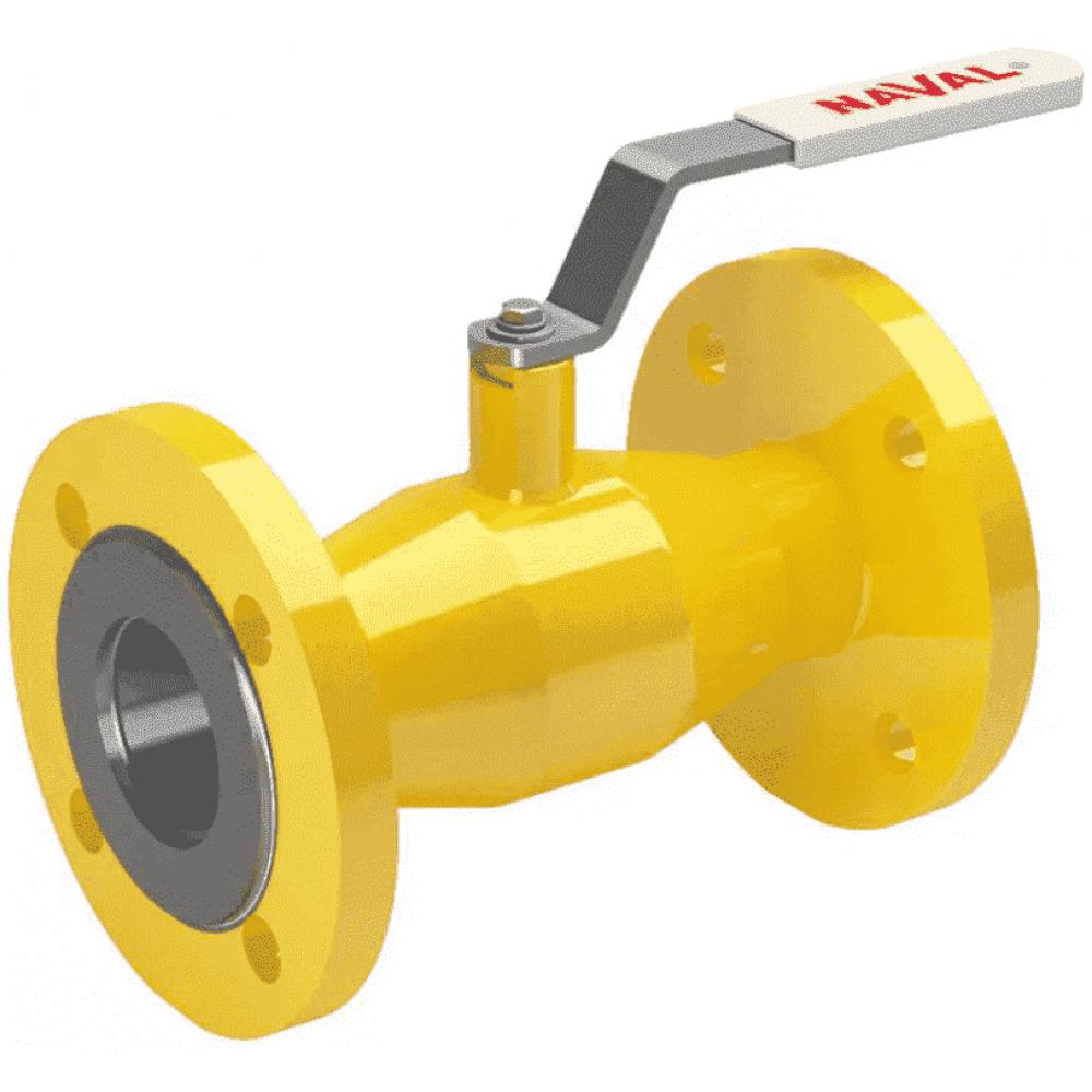 Кран стальной газовый NAVAL фланец-фланец DN50 PN40