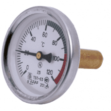 Термометр биметаллический осевой Дк63 L=100мм G1/2' 120C ТБП-Т НПО ЮМАС